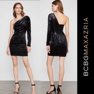 Bcbgmaxazria Bcbg black velvet dress NWT